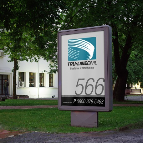TruLIne Civil signage system, graphic design studio, design consultancy, creative design, graphic design, web design, print design, Christchurch, New Zealand, logo design, brand design, logos, corporate identity, originating company, originating product names right, packaging, Illustration, advertising, creative design, websites, photography, posters, flyers