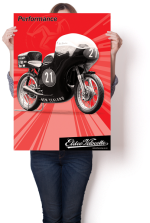 "Dynamic Eldee Velocette ""Performance"" Isle of Man Classic T.T. poster. Poster design and print, Christchurch, New Zealand."