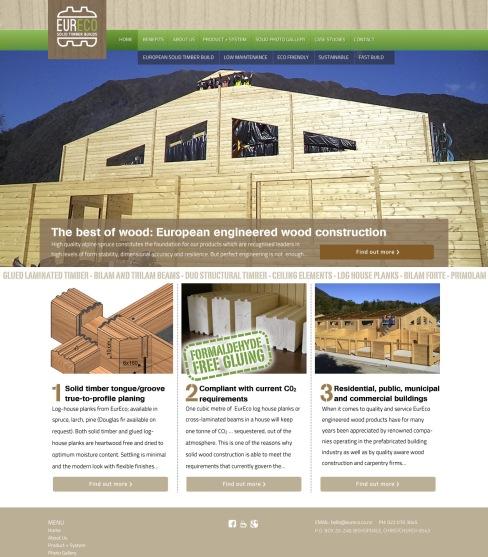 "Home ""stencil"" type alt. Banner slide 04— Banner slide: ""The best of wood: European engineered wood construction."""