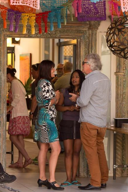 Rachel Raine with guests