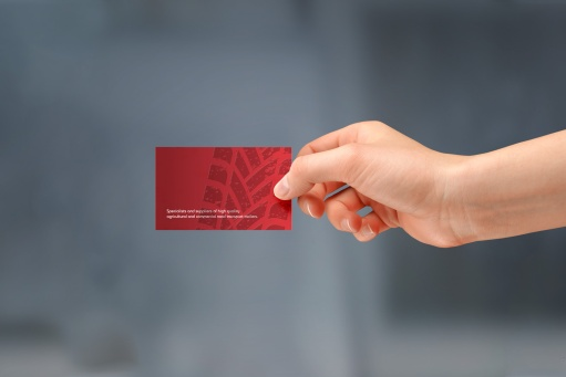 Handheld MTC Equipment business card back. Full colour front, full colour back.