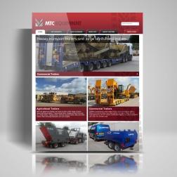 MTC website homepage draft mock-up.
