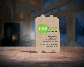 Eurowood business card front.