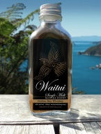 Waitui Single Malt Manuka Honey Golden Bay Whiskey 100ml sample bottle label mockup. Sample bottles are a useful sales and marketing premium at the launch event and in ongoing marketing and promotional efforts.