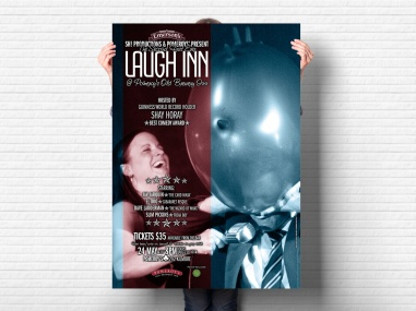 Pomeroy's second first ever Laugh Inn poster