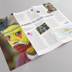 Spirit of Papua New Guinea launch brochure. Direct mail campaign to Pionair database and agents. One of three tour packages in the campaign.