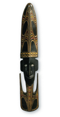 Sepik River carved ceremonial mask