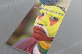 Spirit of Papua New Guinea launch brochure. Direct mail campaign to Pionair database and agents. One of three tour packages promoted in the Pionair Group Travel direct mail campaign.