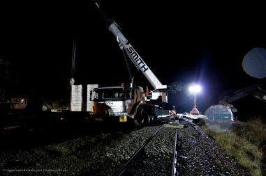 The timing of the crane and support truck, which drove up from Christchurch, was coordinated with the excavation and readying of the culvert bedding gravels.