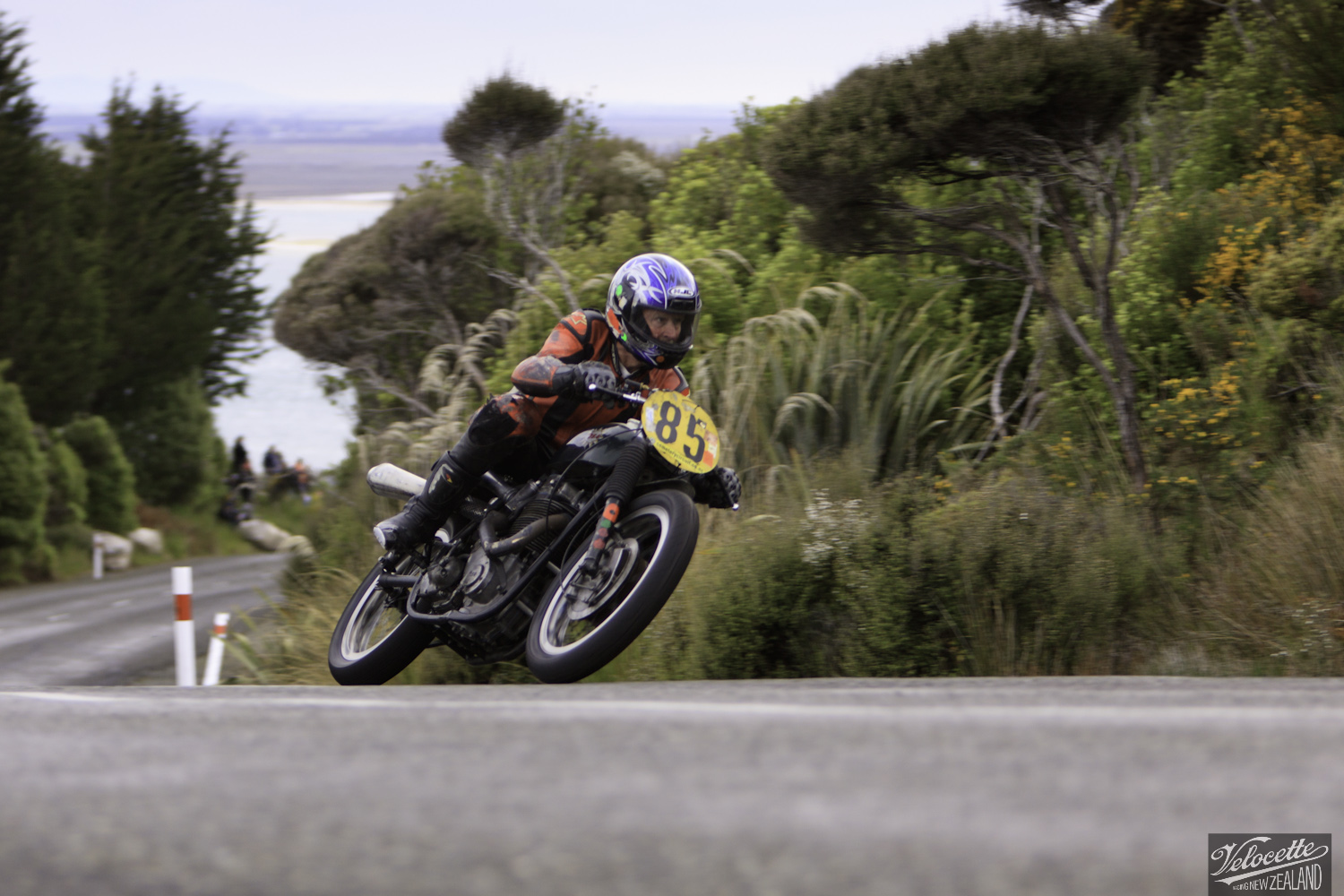 Bluff Hill, Bluff HIll Climb, BSA Goldstar 500, Burt Munro Challenge, Classic Pre '63, Flagstaff Road, Graham Peters, Motupohue, New Zealand, NZ Hill Climb Champs, Rider 85