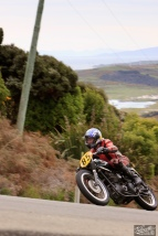 Bluff HIll Climb, BSA Goldstar 500, Burt Munro Challenge, Classic Pre '63, Flagstaff Road, Graham Peters, Motupohue, New Zealand, NZ Hill Climb Champs, Rider 85