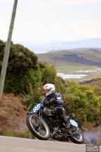 Bluff HIll Climb, Burt Munro Challenge, Flagstaff Road, Motupohue, Neville Mickleson, New Zealand, NZ Hill Climb Champs, Rider 95, Velocette KTT MKIV 350