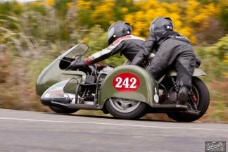 Bluff Hill, Bluff HIll Climb, Burt Munro Challenge, Classic Sidecars, John Blaymires, Moto Guzzi Le Mans Sidecar 950, Motupohue, New Zealand, NZ Hill Climb Champs, Rider 242