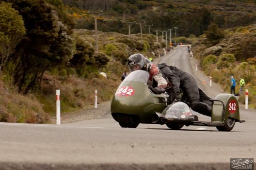 Bluff Hill, Bluff HIll Climb, John Blaymires, Moto Guzzi Le Mans Sidecar MK5 956, Motupohue, New Zealand, NZ Hill Climb Champs, Rider 242
