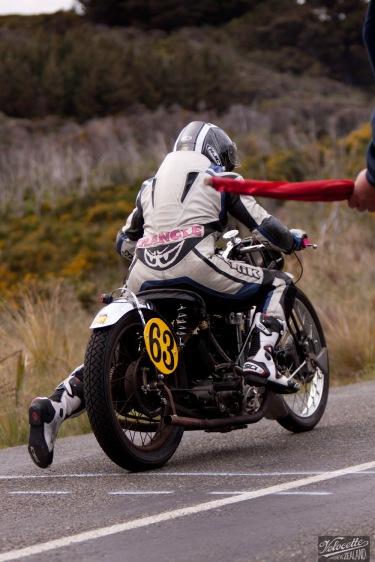 Bluff HIll Climb, Burt Munro Challenge, Flagstaff Road, Francie Winteringham, Motupohue, New Zealand, NZ Hill Climb Champs, Rider 63, Rudge TT Rep 500