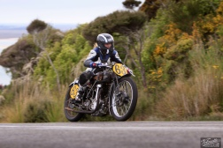 Bluff HIll Climb, Burt Munro Challenge, Flagstaff Road, Francie Winteringham, Motupohue, New Zealand, NZ Hill Climb Champs, Rider 63, Rudge TT Rep 500