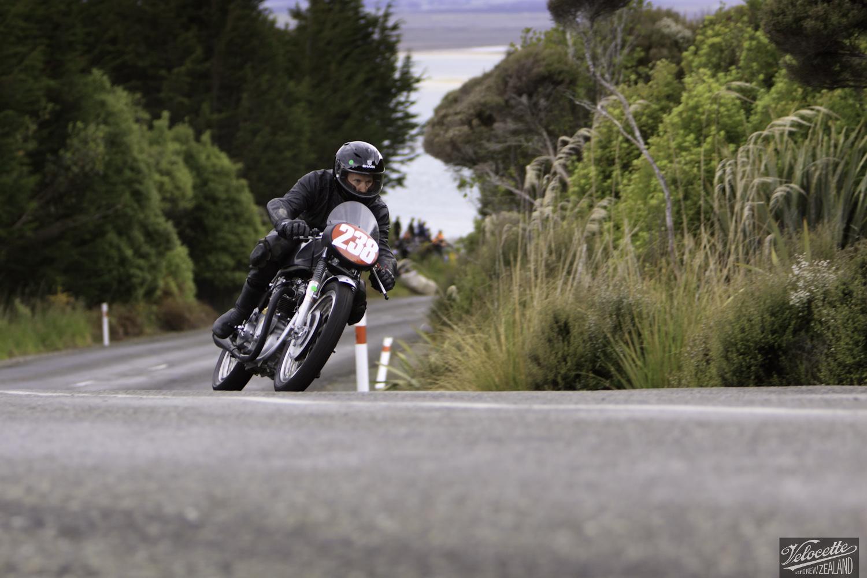 Bluff Hill, Bluff HIll Climb, Bruce Aitken, Burt Munro Challenge, Flagstaff Road, Motupohue, New Zealand, NZ Hill Climb Champs, Rider 238, Triton Triton 650