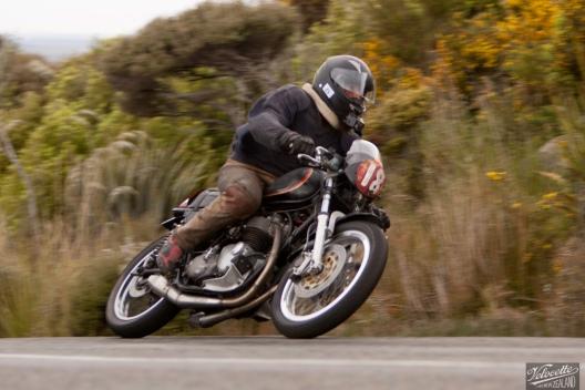 Bluff Hill, Bluff HIll Climb, Burt Munro Challenge, Kevin Ryan, Motupohue, New Zealand, NZ Hill Climb Champs, Rider 18, Triumph Bonneville 800