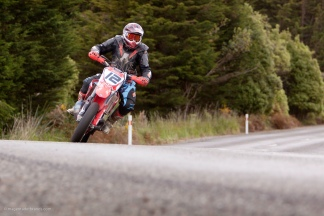 Bluff HIll Climb, Corner 5, Honda CR 600, Jason Feaver, Motupohue, New Zealand, NZ Hill Climb Champs, Rider 12, Up to 600cc