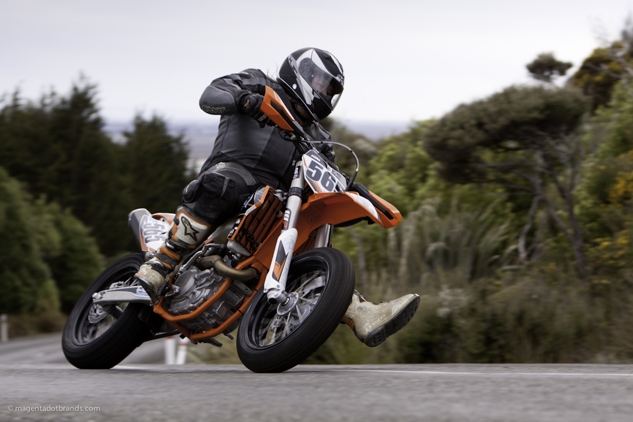 Bluff Hill, Bluff HIll Climb, Burt Munro Challenge, KTM EXC 500, Motupohue, New Zealand, NZ Hill Climb Champs, Rider 565, Royden West, Up to 600cc, 0 year Anniversary event, Thursday 26 November 2016