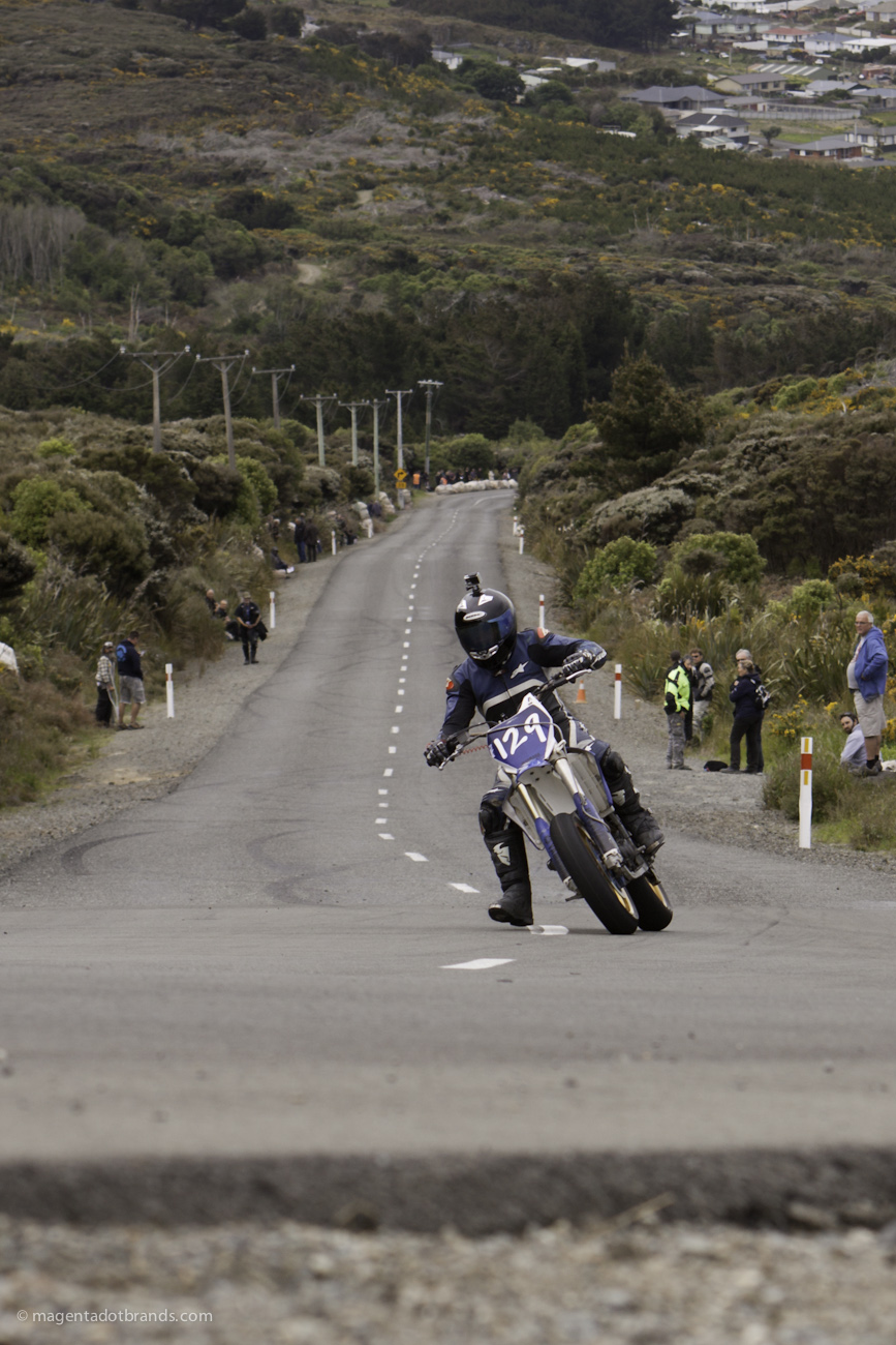 Bluff HIll Climb, Motupohue, New Zealand, Bluff Promotions NZ Hill Climb Champs, Rider 129, Robert Goodman, Up to 600cc, Burt Munro Challenge 2015,10 year Anniversary event, Thursday 26 November 2016, Yamaha YZF 450