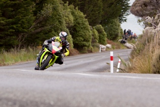 Aprilia RSV4 1000, Bluff HIll Climb, Burt Munro Challenge, Corner 1, Flagstaff Road, Motupohue, Johnny Lewis, New Zealand, NZ Hill Climb Champs, Open Class, Rider 54