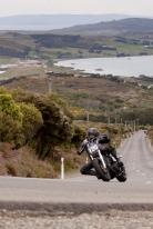 Bluff HIll Climb, Burt Munro Challenge, Flagstaff Road, Harley Davidson FXBI 1450, Motupohue, New Zealand, NZ Hill Climb Champs, Open Class, Rider 120, Tony Campbell