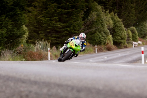 Bluff HIll Climb, Burt Munro Challenge, Flagstaff Road, Kawasaki ZX6RR 600, Mike Sullivan, Motupohue, New Zealand, NZ Hill Climb Champs, Open Class, Rider 53