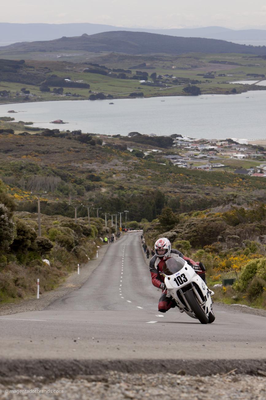 Bluff HIll Climb, Burt Munro Challenge, Classic Pre '89, Jon Rawcliffe, New Zealand, NZ Hill Climb Champs, Rider 103, Yamaha FZR 1002