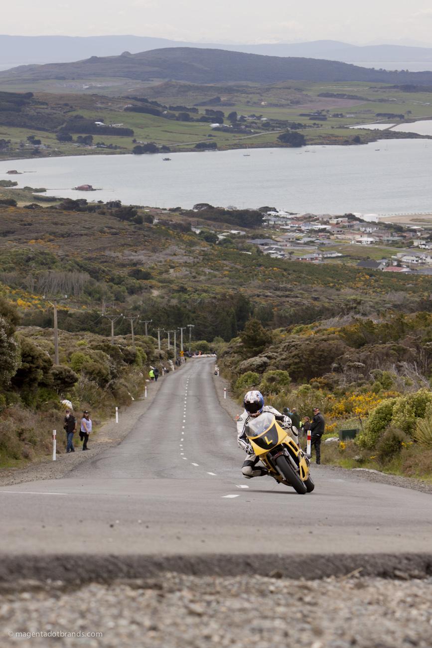 Bluff Hill, Bluff HIll Climb, Burt Munro Challenge,Doug Wood, New Zealand, NZ Hill Climb Champs, Rider L, Yamaha FZR 400