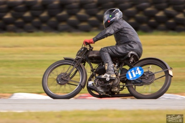 AJS K6 500, Burt Munro Challenge, Classic Pre '63 with Girder Forks, Keith McCleod, Rider 114, Teretonga Circuit races, Velocette