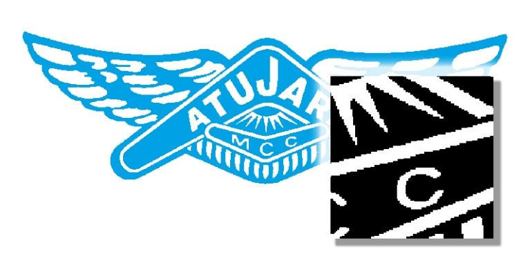 Diagram of the unusable Bitmap (Raster) original version of the Atujara logo.