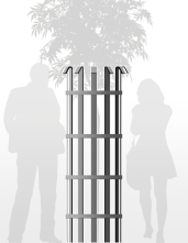 Tree guard illustration depicts use of human element in product illustration