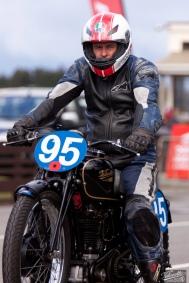 Burt Munro Challenge, Classic Pre '63 Girder Forks, KTT MK IV, Neville Mickleson, Rider 95, Teretonga Circuit races, Velocette