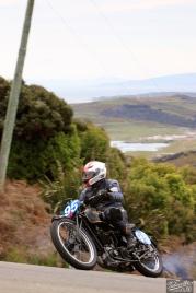 Bluff Hill, Bluff HIll Climb, Burt Munro Challenge, Flagstaff Road, Motupohue, Neville Mickleson, New Zealand, NZ Hill Climb Champs, Rider 95, Velocette KTT MKIV 350