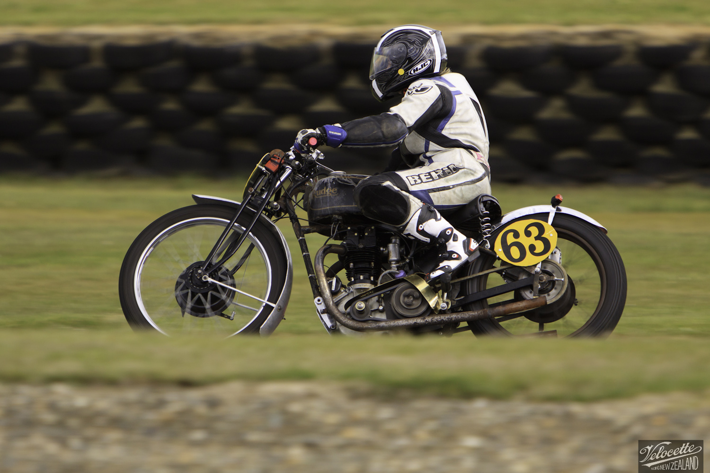 Burt Munro Challenge, Classic Pre '63 with Girder Forks, Teretonga Circuit races, Francie Winteringham, Rider 63, Rudge TT Rep 500