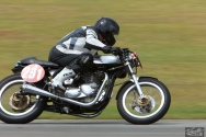 Burt Munro Challenge, Classic Motorcycle Racing, New Zealand, Paul Register, Post Classic Pre '72, Rider 291, Teretonga Circuit races, Triton Norton Triumph 750