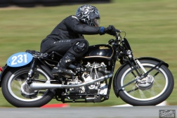 Classic Pre '63 with Girder Forks, Cloud Craig-Smith, KTT 350, KTT MK VIII, Rider 231, Teretonga Circuit races, Velocette