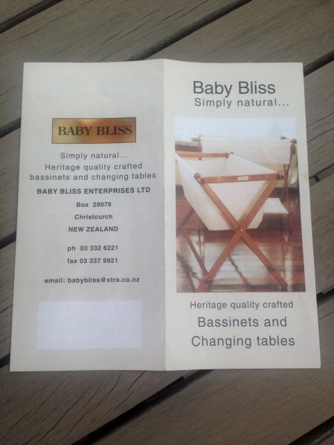 "BabyBliss ""Before"" brochure cover."