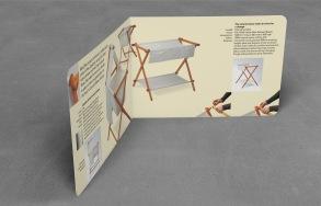 BabyBliss nursery furniture collection A5, bifold landscape brochure