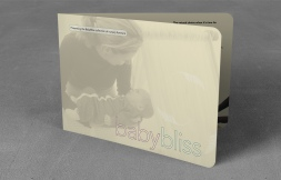 BabyBliss nursery furniture collection A5, bifold landscape brochure