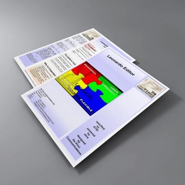 "Leonardo Editor brochure ""before""."