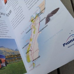Hidden Gems of New Zealand, one of a set of 3 escorted tour direct mail brochures designed for the 2009 direct mail campaign to Pionair's past traveller database and affluent travel agents in the U.S. and the rest of the world