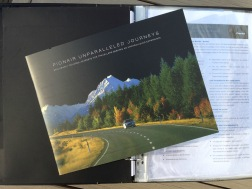 Pionair Unparalleled Journeys travel brochure, booklet format cover.