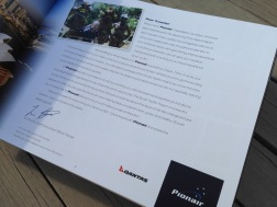 Pionair Unparalleled Journeys travel brochure, booklet format. Dear Pionair traveller letter.