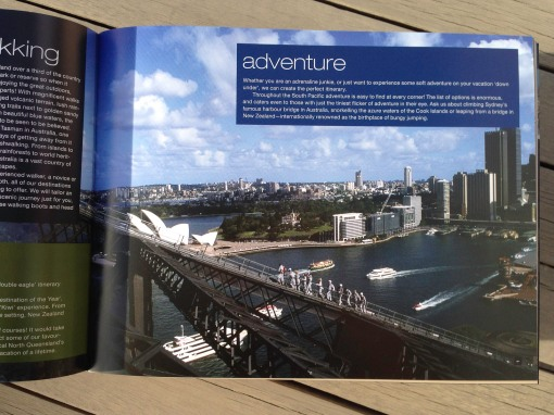 Pionair Unparalleled Journeys travel brochure, booklet format. Adventurous activities.