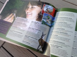 Pionair Unparalleled Journeys travel brochure, booklet format. Family adventure downunder spread.