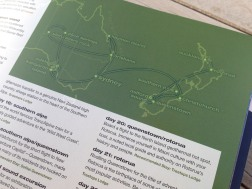 Pionair Unparalleled Journeys travel brochure, booklet format. Australia New Zealand map.