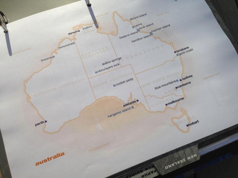 Australia custom map