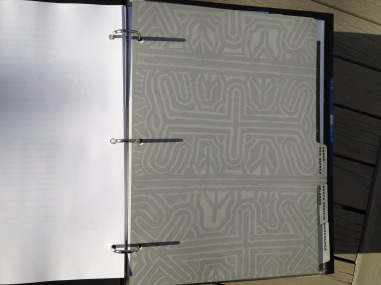 Affluent Travel Agency Toolkit. Papua New Guinea tabbed section divider. Tapa cloth pattern.